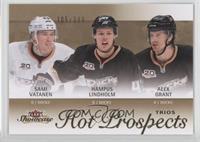 Hot Prospects Trios - Hampus Lindholm, Alex Grant, Sami Vatanen /399