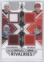 Steve Yzerman, Patrick Roy, Chris Osgood, Joe Sakic /1