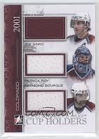 Joe Sakic, Patrick Roy, Ray Bourque