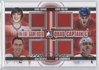 Serge Savard, Chris Chelios, Jean Beliveau, Guy Carbonneau