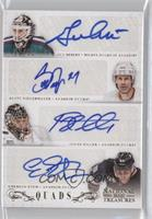 Emerson Etem, Guy Hebert, Jonas Hiller, Scott Niedermayer /35