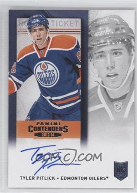 2013-14 Panini Playoff Contenders - [Base] - Rookie Ticket Signatures [Autographed] #223 - Tyler Pitlick