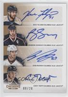 Nick Foligno, Brandon Dubinsky, Ryan Murray, Corey Tropp /20
