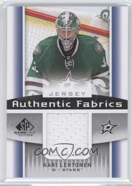 2013-14 SP Game Used Edition Authentic Fabrics Jersey #AF-KL - Kari Lehtonen