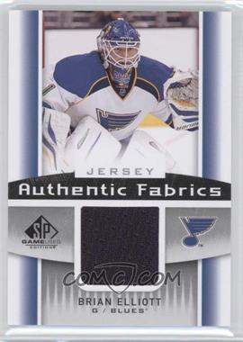2013-14 SP Game Used Edition Authentic Fabrics Jerseys #AF-BE - Brian Elliott