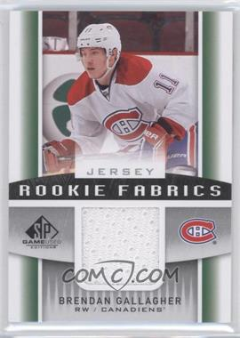 2013-14 SP Game Used Edition Rookie Fabrics Jersey #RF-BG - Brendan Gallagher