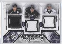 Dustin Brown, Anze Kopitar, Jonathan Quick