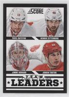 Jimmy Howard, Pavel Datsyuk, Henrik Zetterberg, Jordin Tootoo