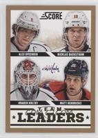 Matt Hendricks, Alex Ovechkin, Braden Holtby, Nicklas Backstrom