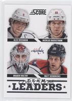 Alex Ovechkin, Nicklas Backstrom, Braden Holtby, Matt Hendricks