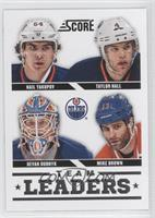 Devan Dubnyk, Mike Brown, Taylor Hall, Nail Yakupov