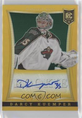 2013-14 Select Gold Prizms #226 - Rookie Autographs - Darcy Kuemper /10