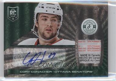 2013-14 Totally Certified Rookie Autograph Jerseys Platinum Green Tags #160 - Cory Conacher /5