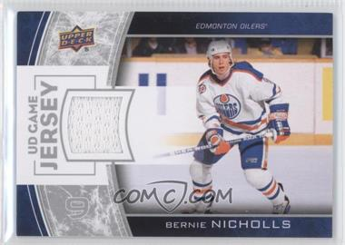 2013-14 Upper Deck Series One UD Game Jersey #GJ-BN - Bernie Nicholls