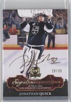 Issued in 14-15 Cup - Jonathan Quick /35