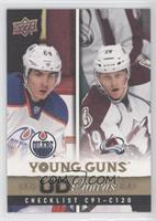 Young Guns Checklist (Nail Yakupov, Nathan MacKinnon)