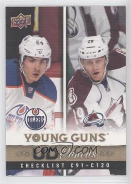 2013-14 Upper Deck UD Canvas #C120 - Young Guns Checklist (Nail Yakupov, Nathan MacKinnon)