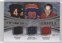 Bobby Orr, Wayne Gretzky, Gordie Howe /12