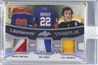 Wayne Gretzky, Mike Bossy, Phil Esposito /2 [ENCASED]