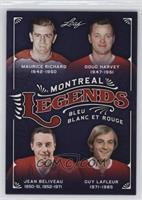 Maurice Richard, Doug Harvey, Jean Beliveau, Guy Lafleur