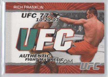 2009 Topps UFC - Authentic Fight Mat Relic #FM-RF - Rich Franklin