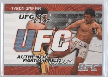 2009 Topps UFC - Authentic Fight Mat Relic #FM-TG - Tyson Griffin