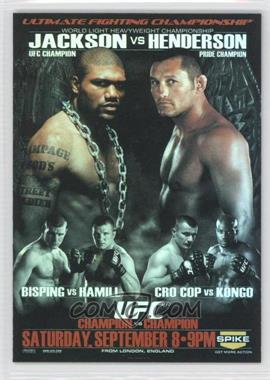 2009 Topps UFC - Fight Poster Review #FPR-UFC75 - UFC 75