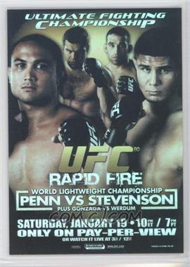 2009 Topps UFC - Fight Poster Review #FPR-UFC80 - UFC80 (B.J. Penn, Joe Stevenson)
