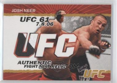 2009 Topps UFC Authentic Fight Mat Relic Gold #FM-JN - Josh Neer /199