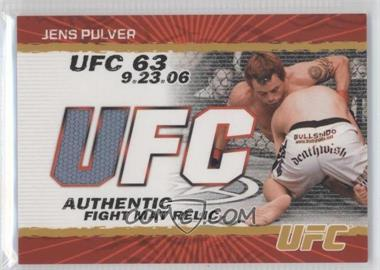 2009 Topps UFC Authentic Fight Mat Relic Gold #FM-JP - Jens Pulver /199