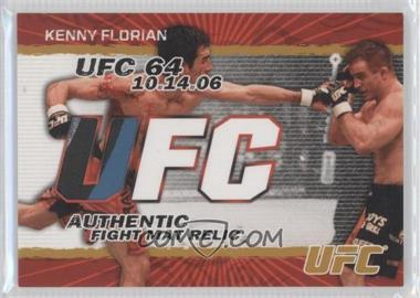 2009 Topps UFC Authentic Fight Mat Relic Gold #FM-KF - Kenny Florian /198