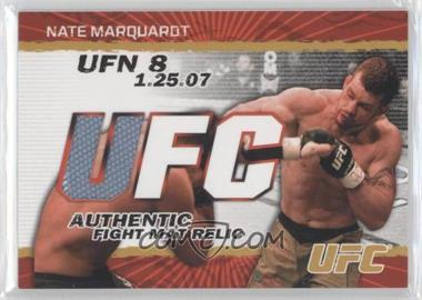2009 Topps UFC Authentic Fight Mat Relic Gold #FM-NM - Nate Marquardt /199