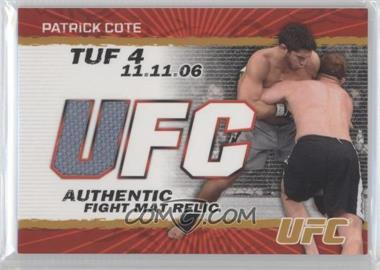 2009 Topps UFC Authentic Fight Mat Relic Gold #FM-PC - Patrick Cote /199