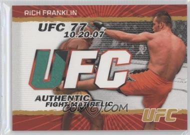 2009 Topps UFC Authentic Fight Mat Relic Gold #FM-RF - Rich Franklin