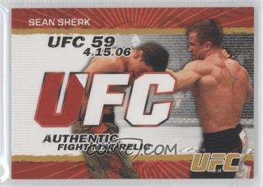 2009 Topps UFC Authentic Fight Mat Relic Gold #FM-SS - Sean Sherk /199