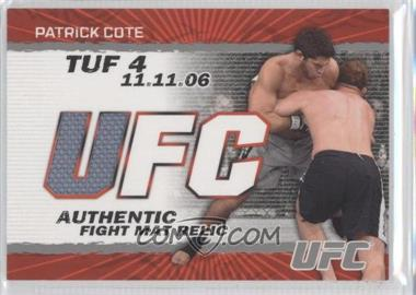 2009 Topps UFC Authentic Fight Mat Relic #FM-PC - Patrick Cote