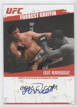 2009 Topps UFC Autographs #FA-FG - Forrest Griffin