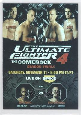 2009 Topps UFC Fight Poster Review #FPR-TUF4 - [Missing]