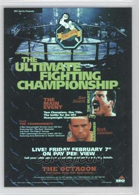 2009 Topps UFC Fight Poster Review #FPR-UFC12 - UFC 12