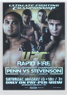 2009 Topps UFC Fight Poster Review #FPR-UFC80 - UFC80 (B.J. Penn, Joe Stevenson)