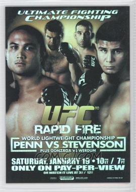2009 Topps UFC Fight Poster Review #FPR-UFC80 - ufc80 (B.J. Penn, Joe Stevenson)