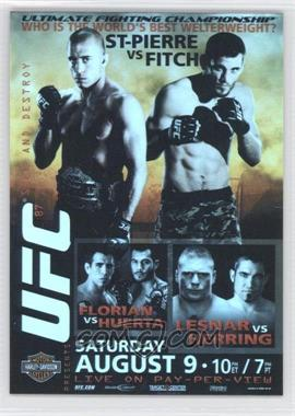 2009 Topps UFC Fight Poster Review #FPR-UFC87 - Georges St-Pierre, Jon Fitch