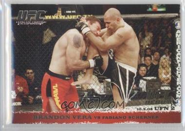 2009 Topps UFC Round 1 Gold #34 - Brandon Vera vs Fabiano Scherner