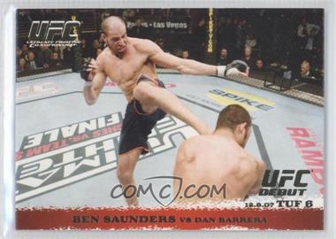 2009 Topps UFC Round 1 Gold #73 - Ben Saunders vs Dan Barrera