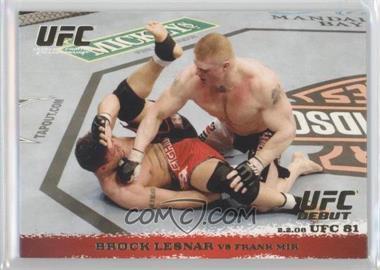 2009 Topps UFC Round 1 Gold #81 - Brock Lesnar vs Frank Mir