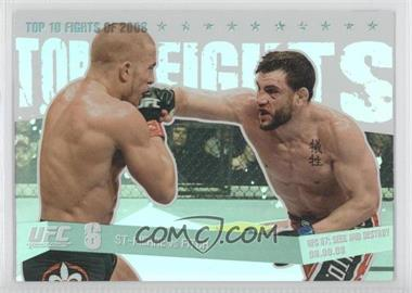 2009 Topps UFC Round 1 Top 10 Fights of 2008 #TT 22 - St-Pierre vs. Fitch