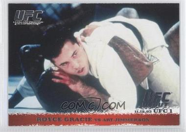 2009 Topps UFC Round 1 #1 - Royce Gracie vs Art Jimmerson
