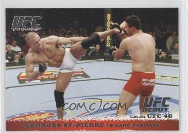 2009 Topps UFC Round 1 #17 - Georges St-Pierre vs Karo Parisyan