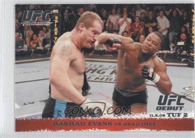 2009 Topps UFC Round 1 #31 - Rashad Evans vs Brad Imes