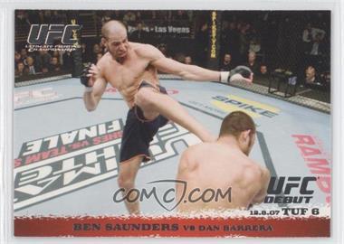 2009 Topps UFC Round 1 #73 - Ben Saunders vs Dan Barrera